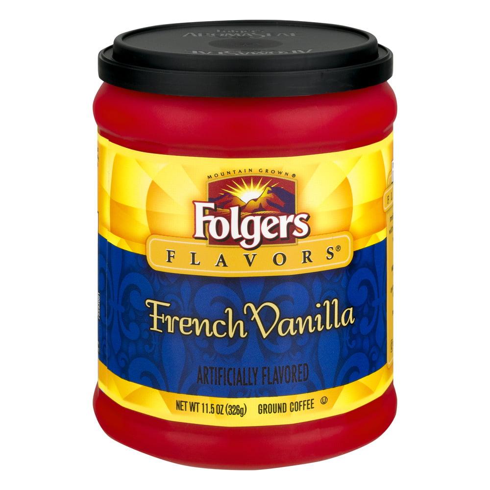 Folgers Ground Coffee French Vanilla, 11.5 OZ