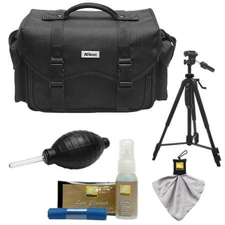 Nikon Slr Gadget Bag (Nikon 5874 Digital SLR Camera System Case - Gadget Bag with Tripod + Kit for D3300, D3400, D5500, D5600, D7200, D7500, D610, D750, D810, D850, D5 )