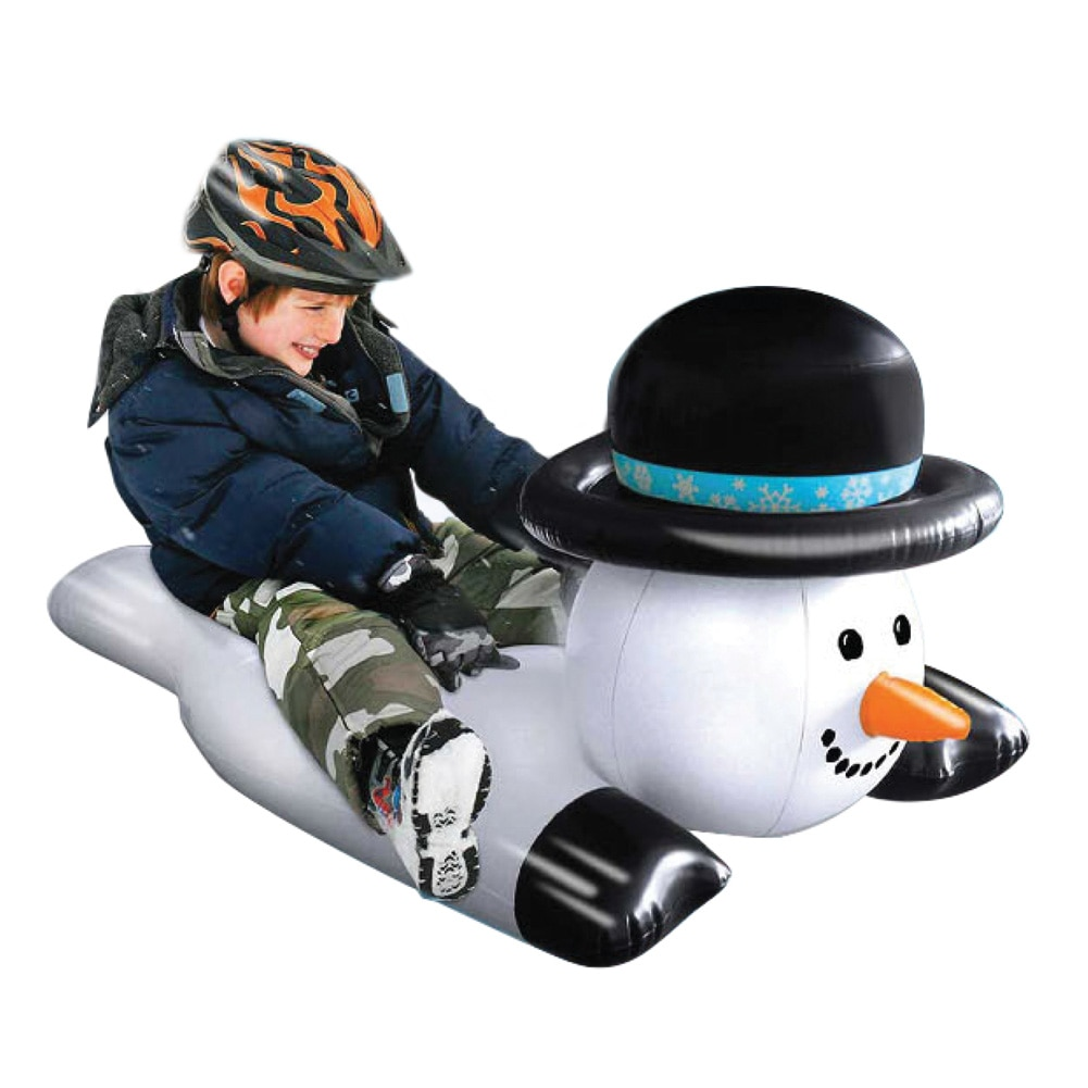 Inflatable Snowman Sledding Snow Tube by Collections Etc