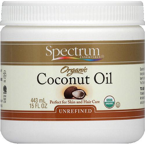 Spectrum Essentials Organic Unrefined Coconut Oil, 15 fl oz, (Pack of 12)