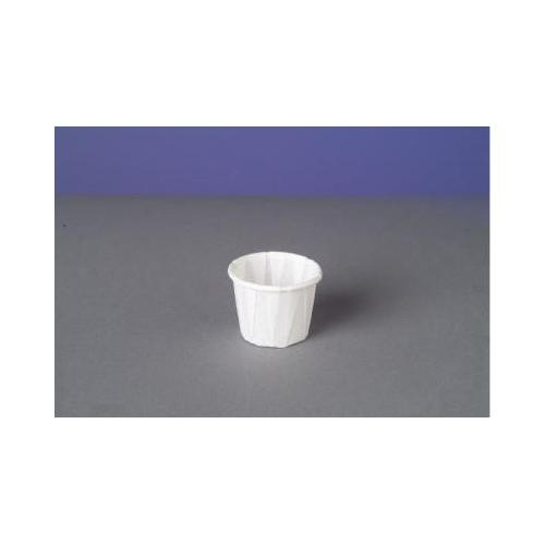 Genpak Squat Paper Portion Cup, Pleated, .5 Oz, White GNPF050