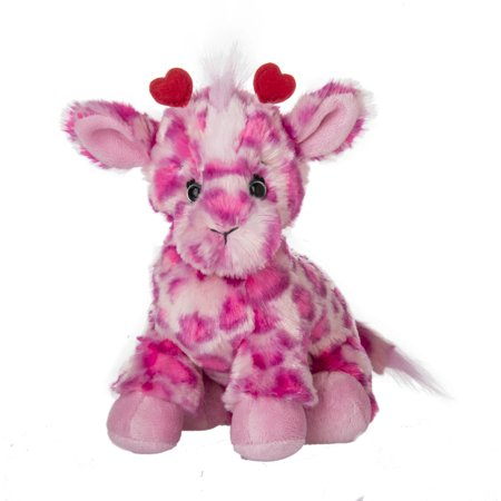 Cherie Giraffe Heart Horns Pink Colored Plush Toy - By Ganz (9in) ()