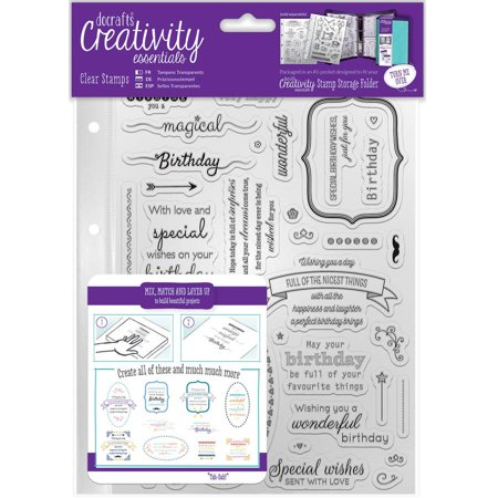 Creativity Essentials A5 Clear Stamps - Clear Stamps