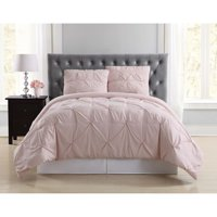 Truly Soft Pleated Blush Twin XL Duvet Set