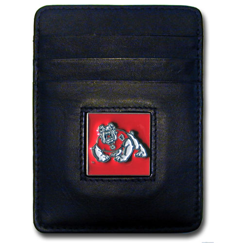 Fresno State Bulldogs Leather Money Clip/Cardholder (F)