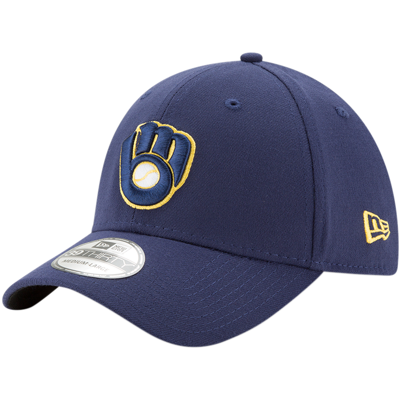 Milwaukee Brewers New Era Alternate 2 Team Classic 39THIRTY Flex Hat - Navy