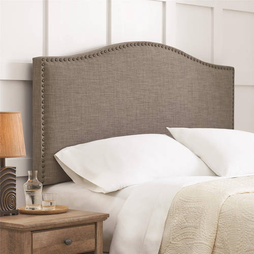 Better Homes and Gardens Grayson Linen Upholstered Headboard with  Nailheads, Full/Queen, Multiple
