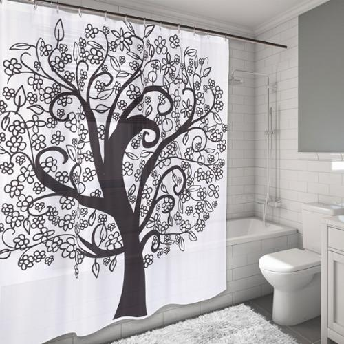 The Tree of Life Design Water Resistant Fabric Shower Curtain