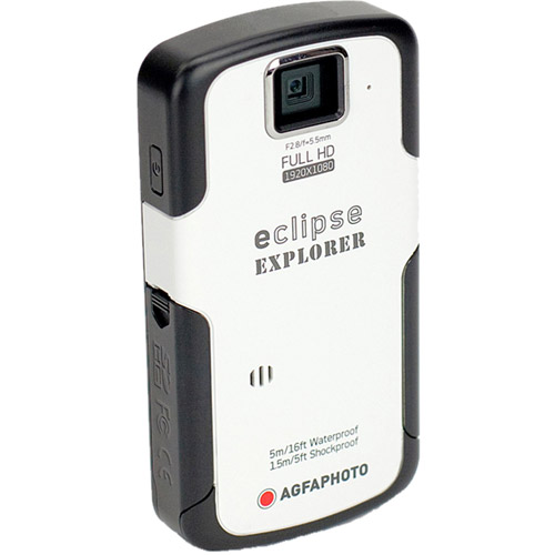 Agfaphoto eClipse Explorer HD Camcorder with Waterproof HD Recording, 4 x Optical Zoom and 2.5-Inch LCD Screen by Generic-OEM