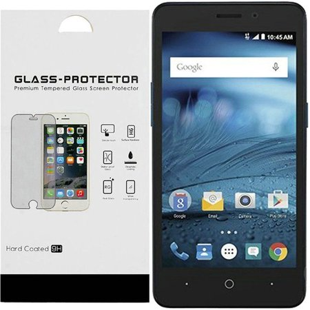 HR Wireless Clear Tempered Glass Screen Protector LCD Film Guard Shield for ZTE Avid 4/Blade Vantage/Fanfare 3/Tempo X