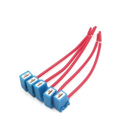5pcs Ceramic Car H1 Headlight Fog Lamp Wiring Harness Socket Connector on