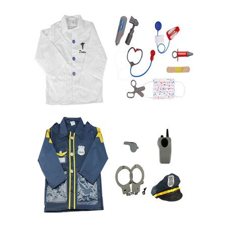 Halloween Costume Police Officer (TopTie Police Officer & Doctor Costume For Kids Halloween Role Play)