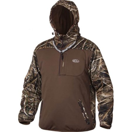 Drake MST Endurance XL Long Sleeve Men's Quarter Zip Hooded Jacket (Drake Long Sleeve)