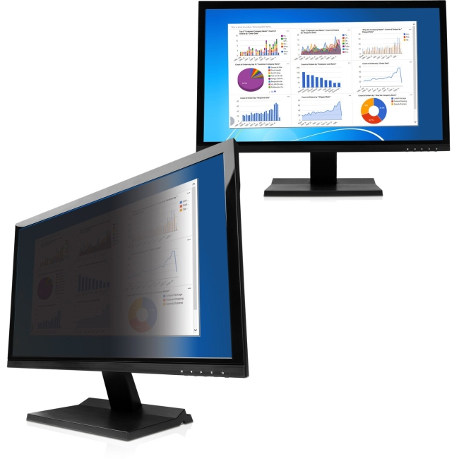 V7  Ws 24in Monitor Privacy Filter Framless Matt/Glossy 20.91x11.73