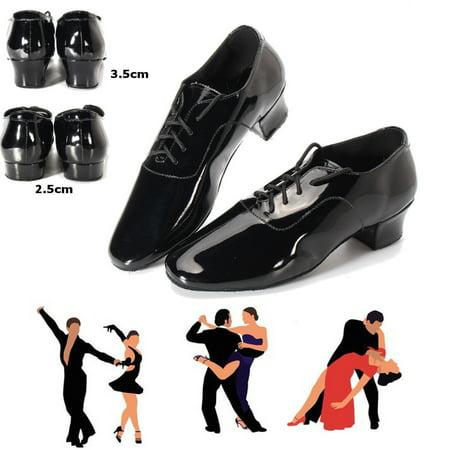 Adult Men Ballroom Latin Salsa Tango Dance Shoes Black Color 2.5cm / 3.5cm