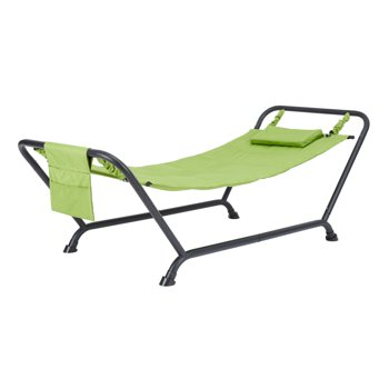 Mainstays Belden Park Quilted Hammock with Stand and Pillow