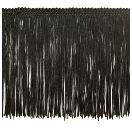 Style Fringe - 6 Inch Chainette Fringe Trim, Style# CF06 Color: Black - K9, Sold By the Yard
