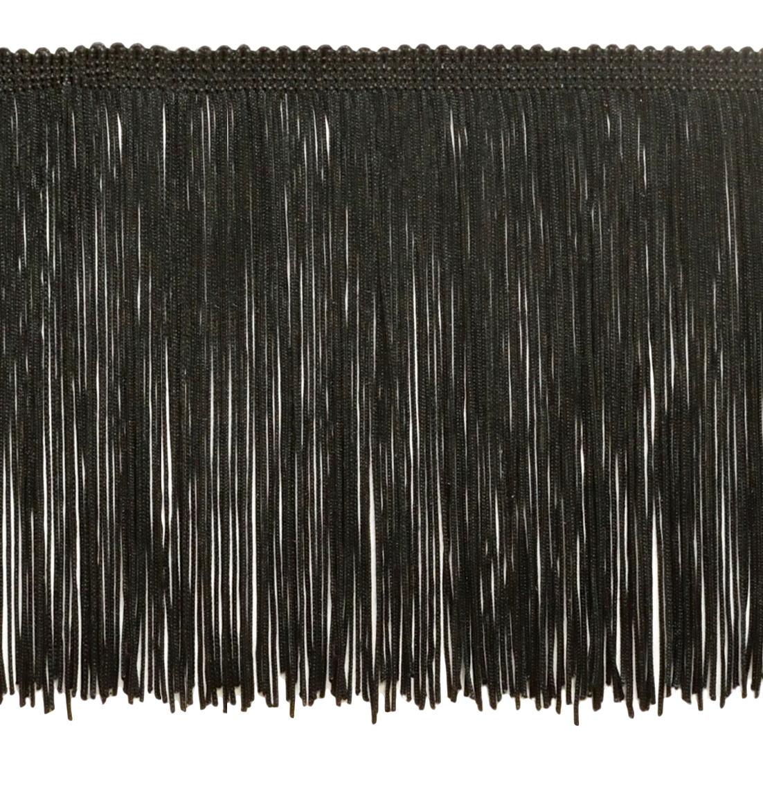 6 Inch Chainette Fringe Trim, Style# CF06 Color: Black - K9, Sold By the Yard