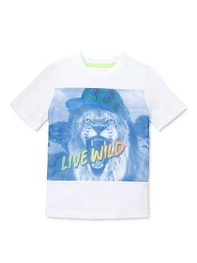 365 Kids from Garanimals Boys Lion Graphic Short Sleeve T-Shirt Sizes 4-10
