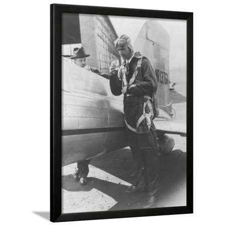 Howard Hughes Pilot Boarding Plane in Full Uniform Photograph - Newark, NJ Framed Print Wall Art By Lantern Press (Pilot Uniform)