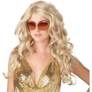 Blonde Sassy Super Model Wig Adult Halloween Accessory