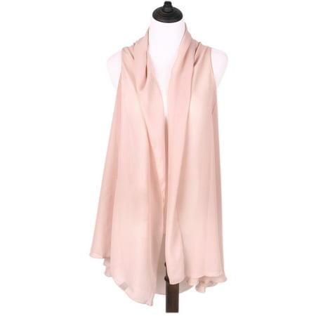 Color Beach (TrendsBlue Solid Color Chiffon Kimono Scarf Wrap Vest Beach Cover)