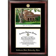 Campus Images CA919LGED California State University  Chico Gold embossed diploma frame with Campus Images lithograph
