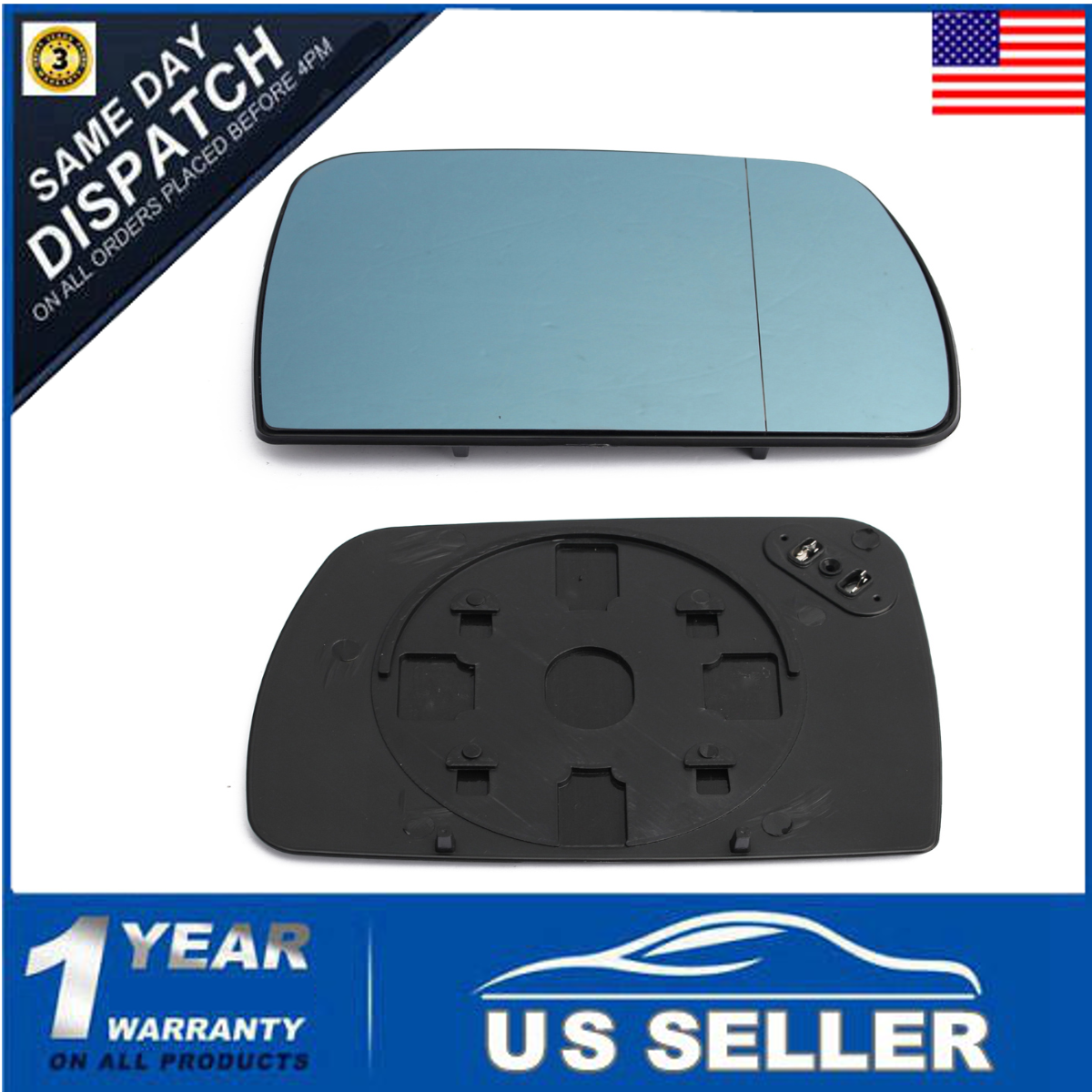 BMW X-5 X5 1999-2006 E53 external wing door right mirror heated glass