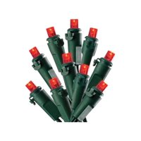 Celebrations Lights Red Bulbs Led 16' Indoor/Outdoor Use Green Cord