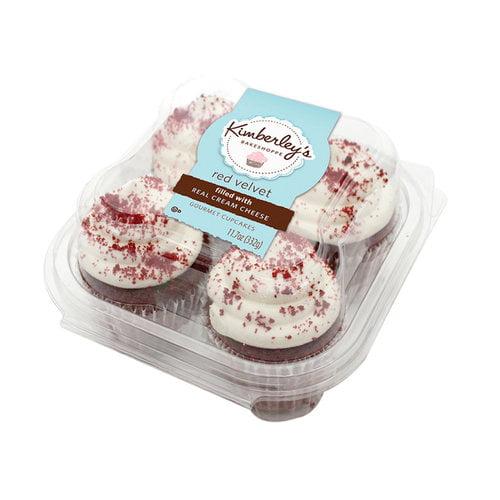 Kimberleys Bakeshoppe Red Velvet Gourmet Cupcakes 4 ct Walmartcom