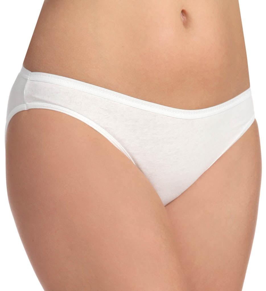 3c8e68bfbb Fruit Of The Loom Women`s 3 Pack Cotton White Bikini Panty