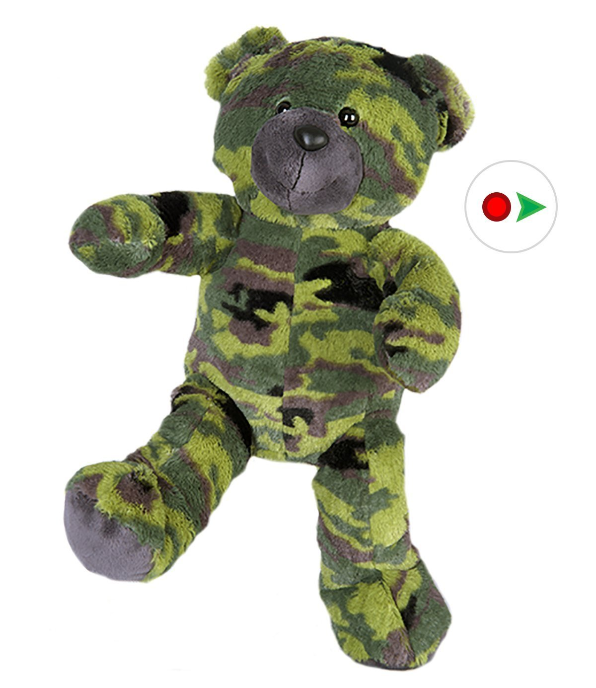 Record Your Own Plush Camo Teddy Bear Ready To Love In A Few Easy Steps by Teddy Mountain
