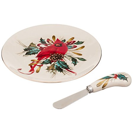 lenox winter greetings cheese plate with knife (Blossom Footed Cheese Plate)