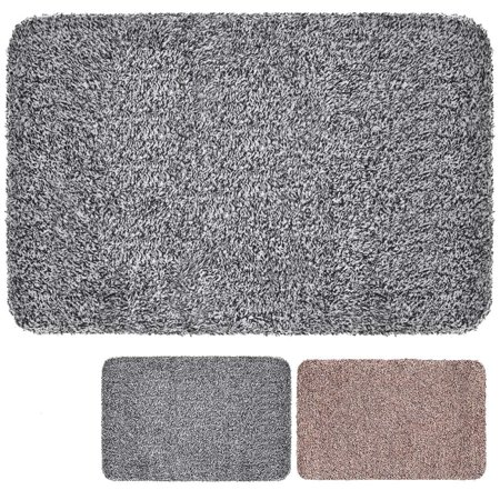"Tayyakoushi Super Absorbs Mud 28""x18"" Latex Backing Non Slip Door Mat for Small Front Door Inside Floor Dirt Trapper Mats Cotton Entrance Rug Shoes Scraper Machine Washable Carpet Home Decor"