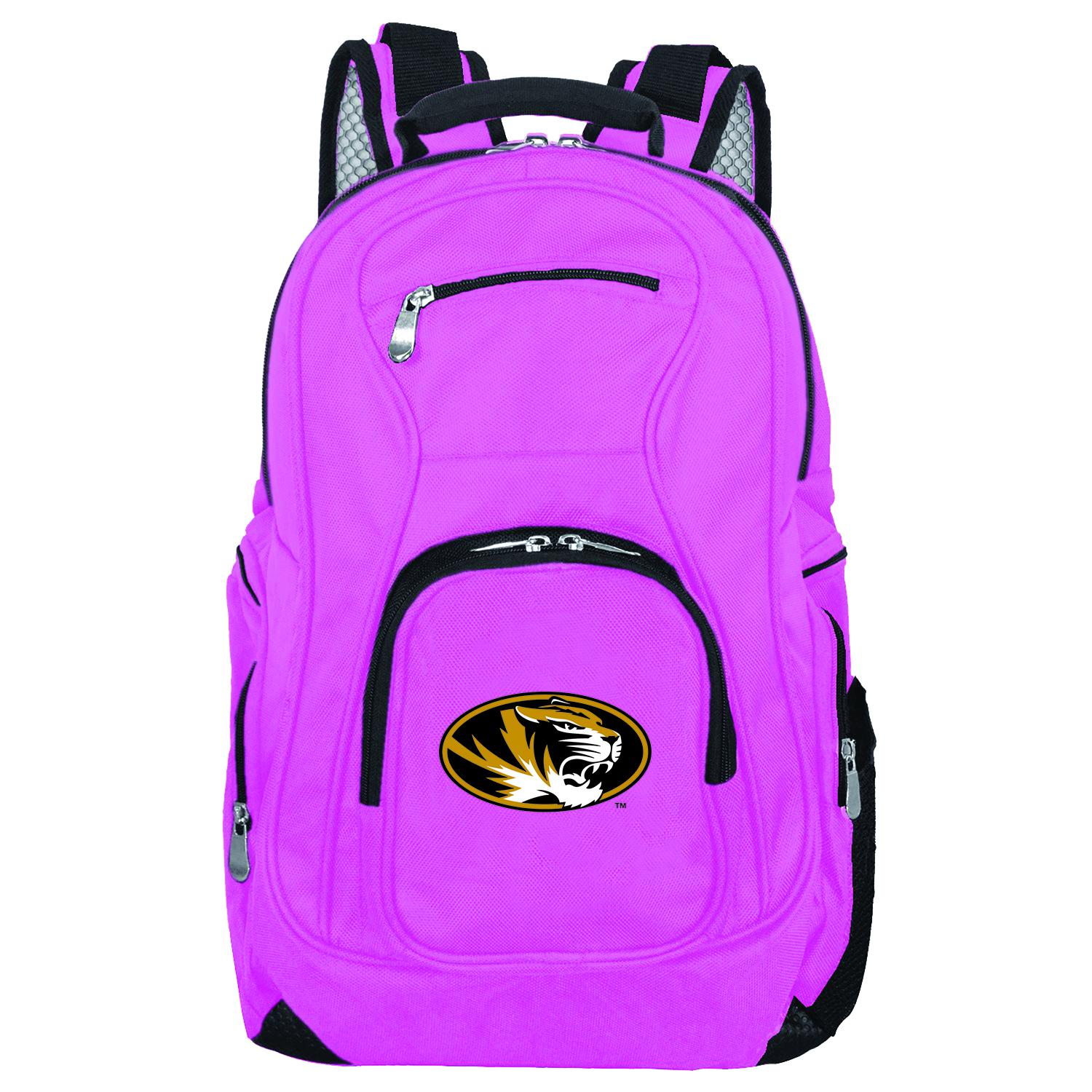 NCAA Missouri Tigers Pink Premium Laptop Backpack