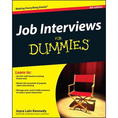 Job Interviews for Dummies (Govt Jobs Walk In Interview In Chandigarh)