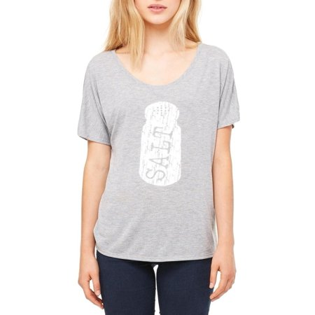 Ugo Salt Matching Couples Item W Peppa Women's Slouchy T-Shirt Clothes Small Athletic Heather-Grey (Salt N Pepa Outfits)
