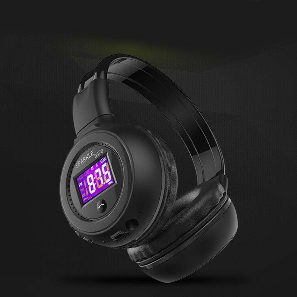 Wireless Bluetooth Headphone HiFi Stereo Headset Microphone Support FM Radio Earphone Micro-SD Card for ZEALOT B570