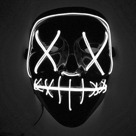 Scary Halloween Mask LED Light Up Mask for Festival Cosplay Halloween Costume White light](Cosplay Armour For Sale)