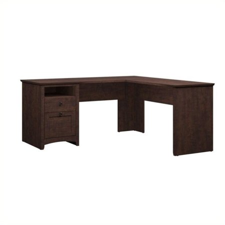 """Pemberly Row 60"""" L-Shaped Desk in Madison Cherry - image 1 de 3"""