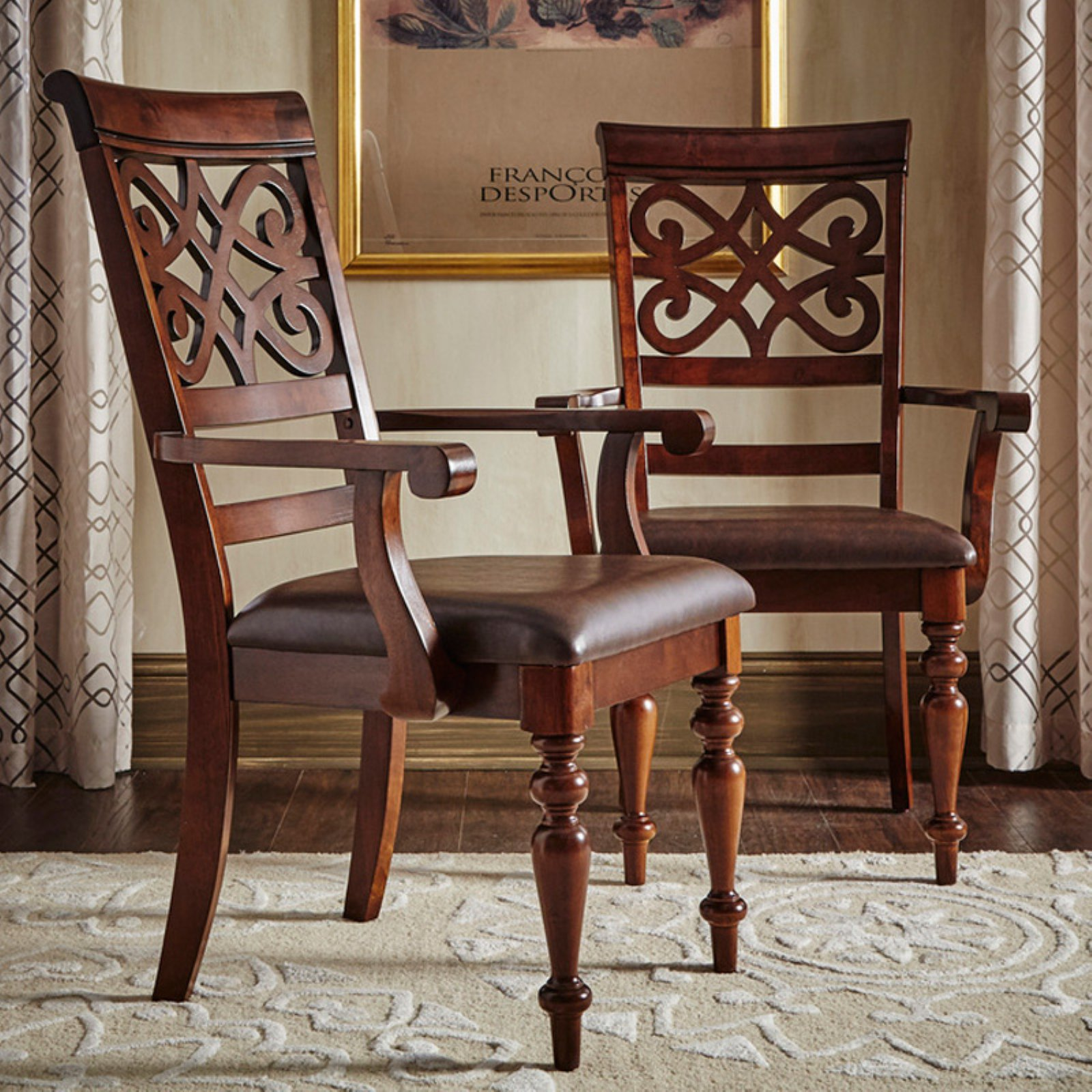 Homelegance Virginia Dining Armchairs Set of 2 by Top-Line Furniture Warehouse