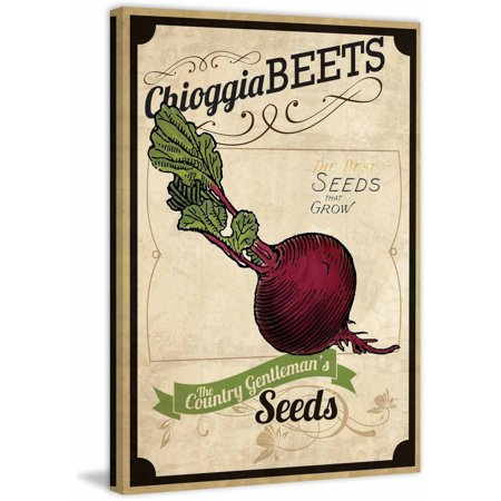 Seed Packet Beet  Painting Print On Wrapped Canvas