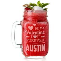 Personalized Be My Valentine Glass Jar, Holds, 15 oz