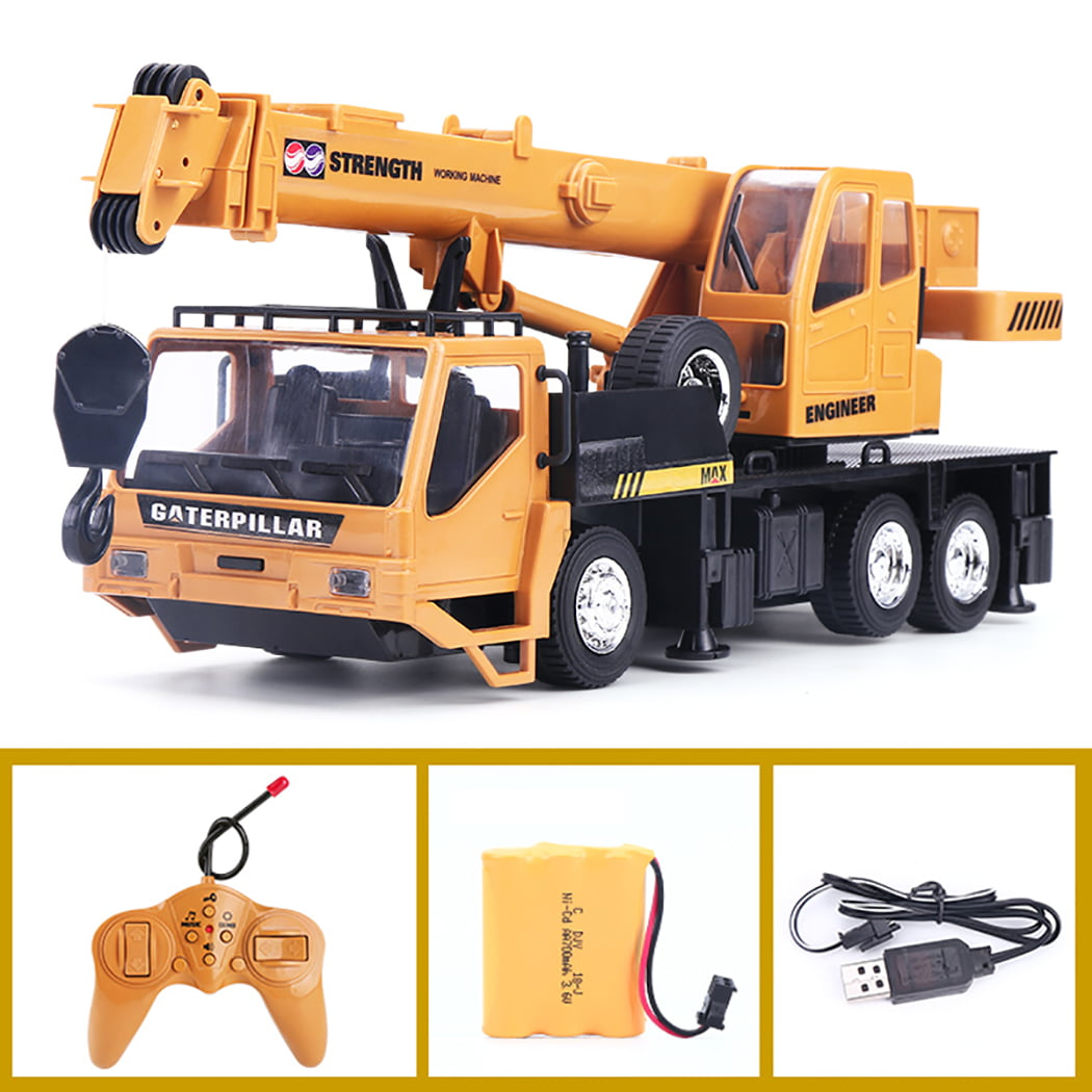 Lotees Wireless Remote Control Truck Electric Car Crane Construction Vehicle Electric Rc Car Toy Car Crane Tower Crane Model Loader Bulldozer Excavator Children Gifts Kids Toy