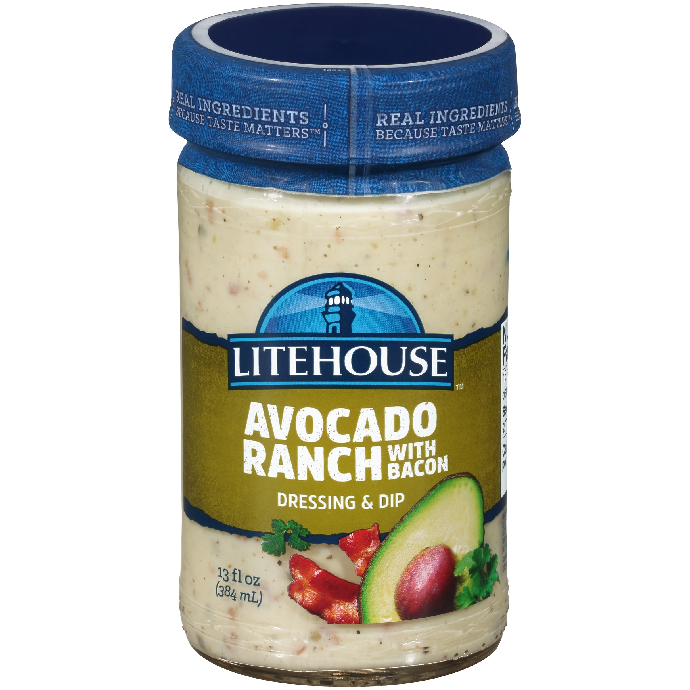 Litehouse® Avocado Ranch with Bacon Dressing & Dip 13 fl. oz. Bottle
