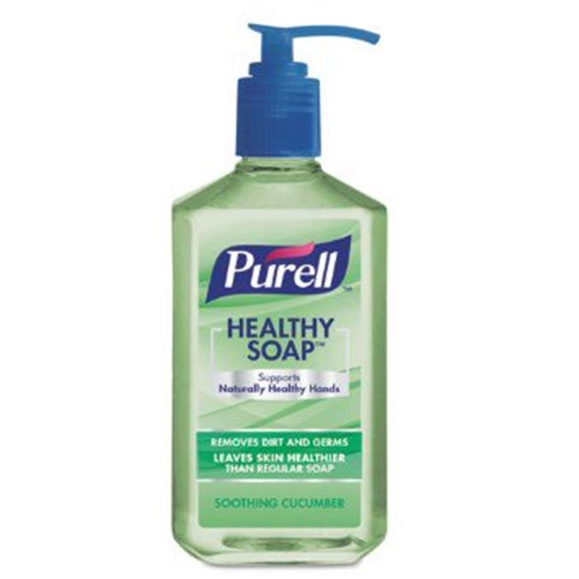 GOJO Industries 970212 12 oz Purell Cucumber Healthy Soap, Light Green