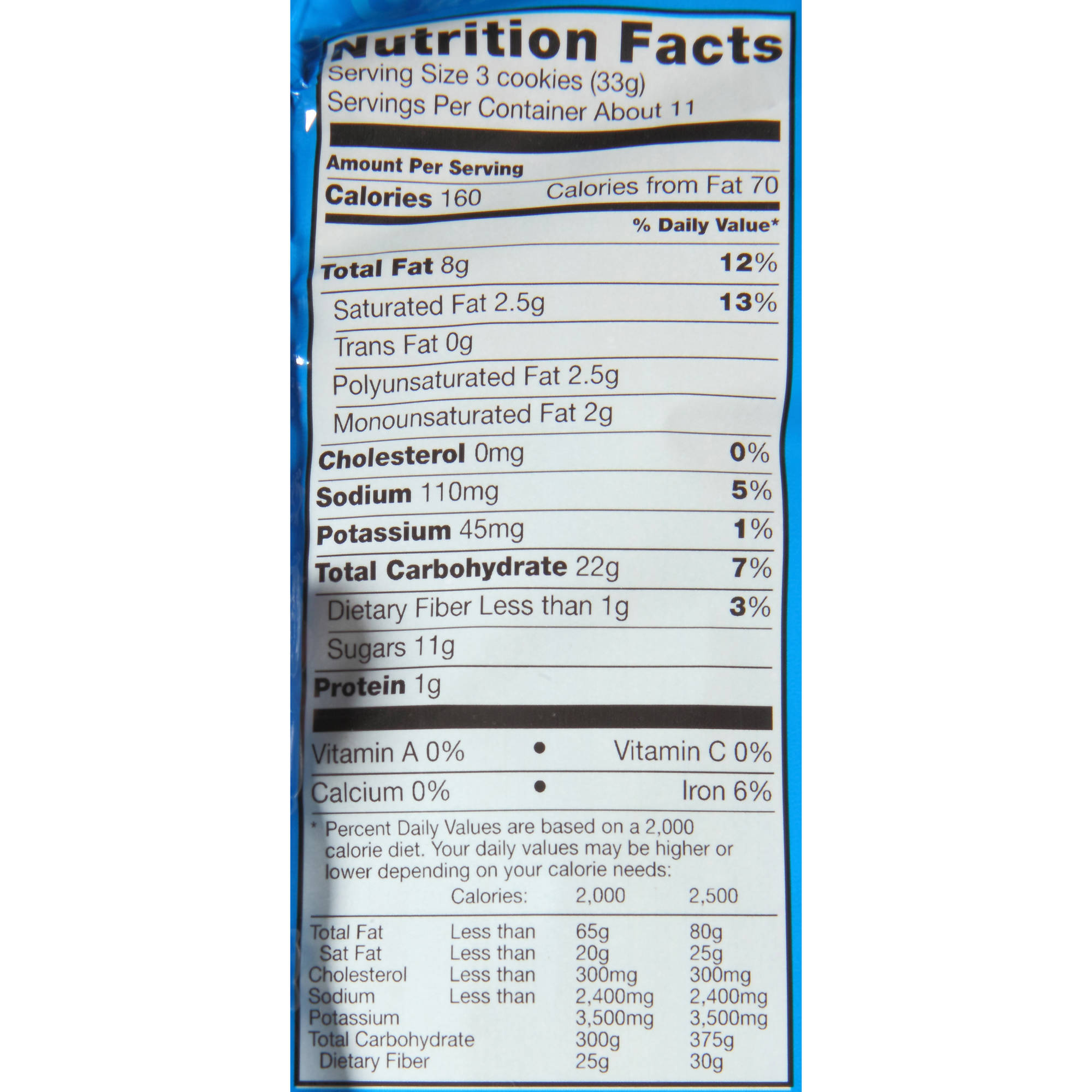 Nabisco Chocolate Chip Cookies Nutrition Facts