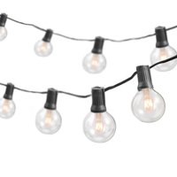 50-Foot, 50 Socket Indoor/Outdoor Patio String Lights with 55 Incandescent Globe G40 Bulbs (5 Free Bulbs Included), Great Wedding Lights, Decorations for Patios, Porches, Backyards, Decks, Bistros
