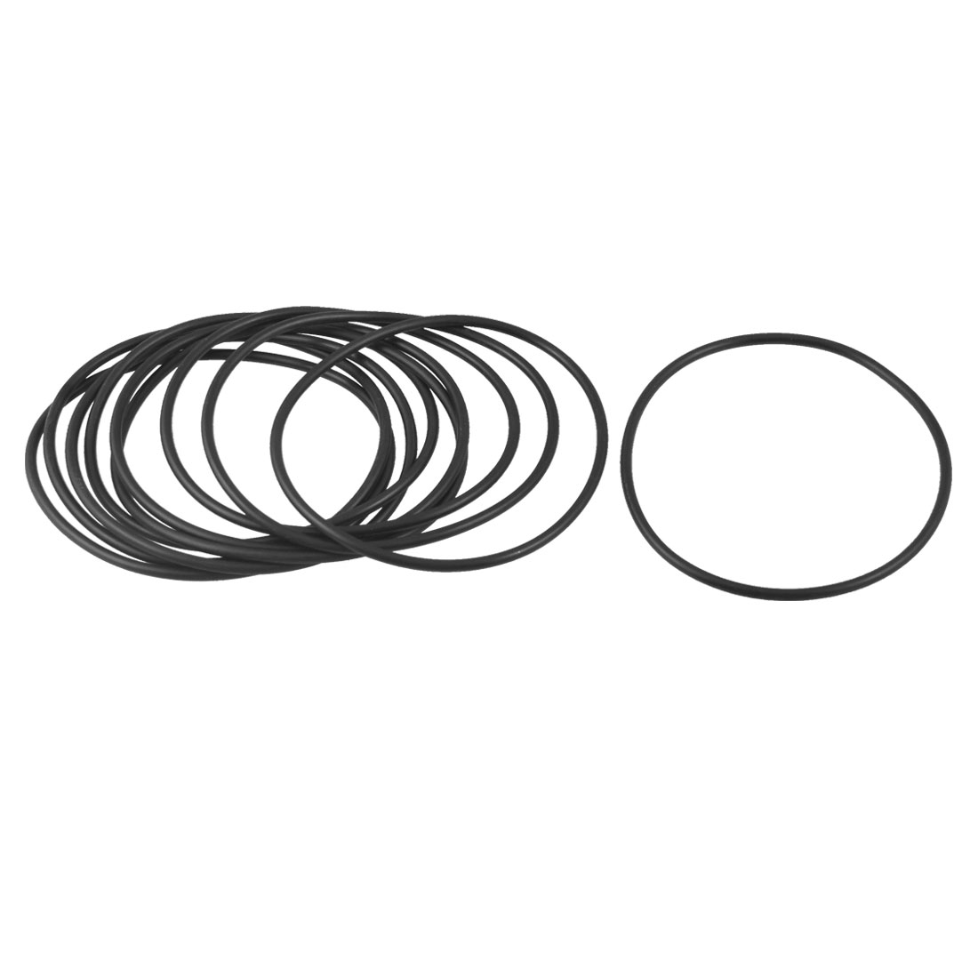 Unique Bargains 10 Pcs 86mm x 79.8mm x 3.1mm Flexible Rubber O Ring Seal Washer Black - image 1 of 1