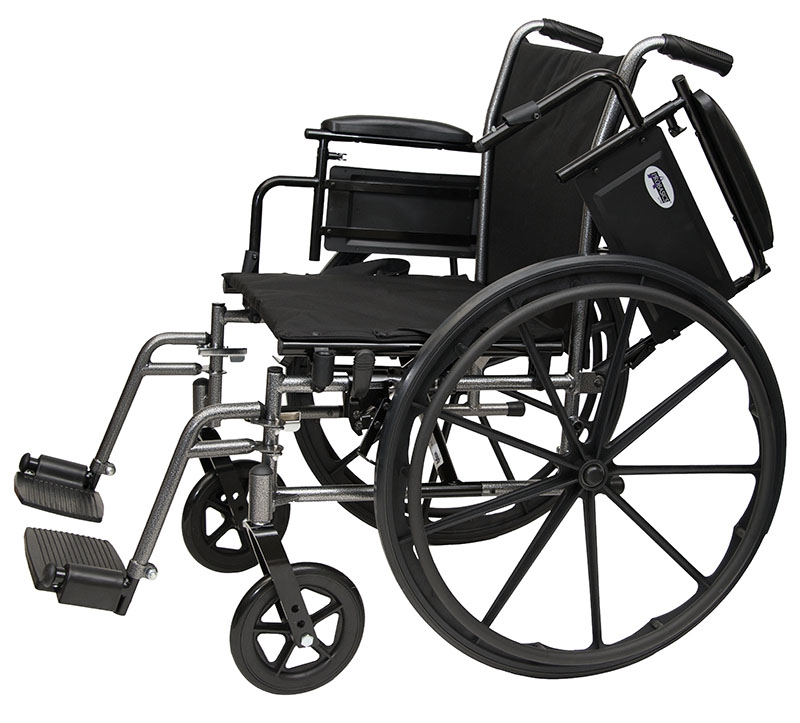 """ProBasics Lightweight Wheelchair - Seat Width 20"""" with Swingaway Footrests - 1 Each / Each"""